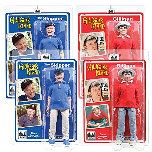 Gilligan's Island Action Figures Series 1: Complete Set of All 4 8 & 12 Inch Figures