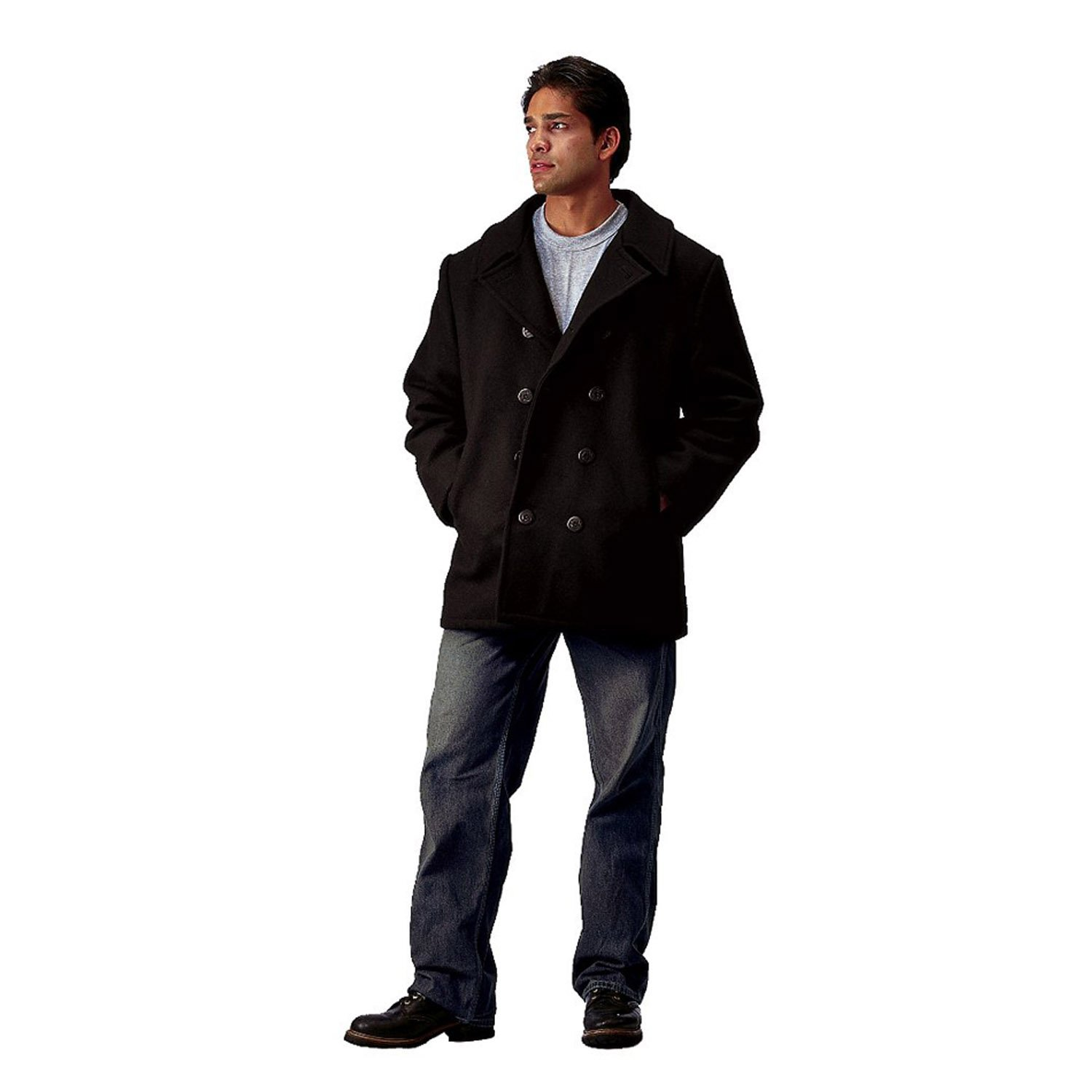 Rothco 7070 Black US Navy Type Peacoat