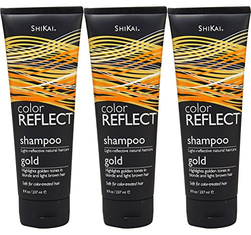 Shikai Color Reflect Gold Shampoo, 8-Ounce Tubes (Pack of 3)