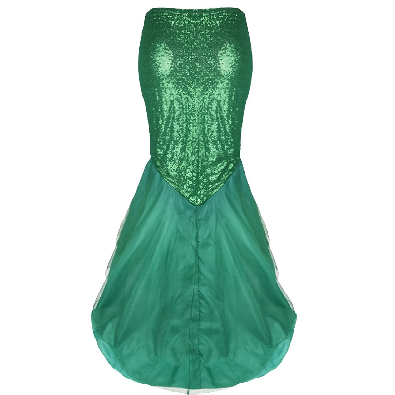 Amazon.com: YiZYiF Women\'s Mermaid Tail Costume Halloween Party ...