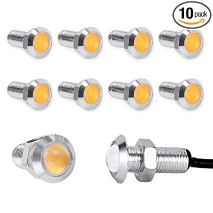 Accessories 10pcs Waterproof 18mm 9w Cob White Led Eagle Eye Car Fog Drl Turn Signal Light Be Friendly In Use Atv,rv,boat & Other Vehicle
