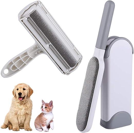 Tonsooze Quitapelos y Rodillos para Mascotas, Quitapelos para Mascotas Cepillo de Limpieza Quita Pelos Gato Y Perro para Limpiar la Ropa Alfombras de Sofá Muebles Coche (2pack): Amazon.es: Productos para mascotas