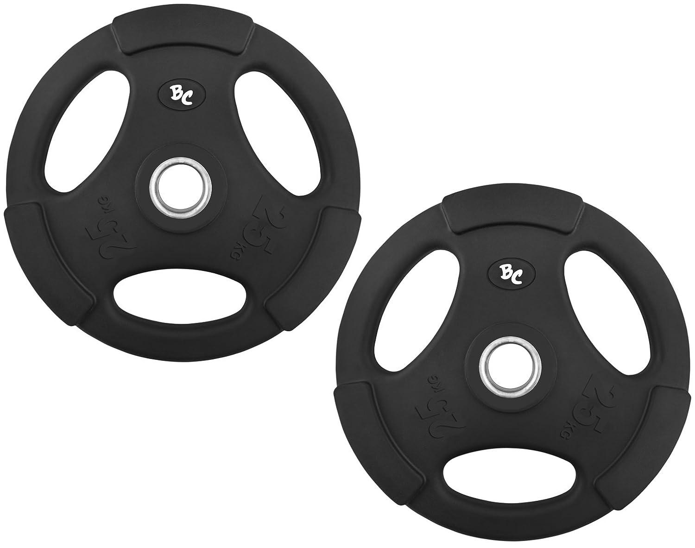Gummi-Gripper 50,0Kg 31mm (2x25,0) Hantelscheiben Hantel Gewichte Hanteln 30 31mm 50,0Kg a91f52