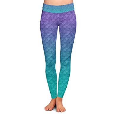 83b280fb83 Image Unavailable. Image not available for. Color: Ariel Mermaid Disney  Inspired Yoga Leggings ...