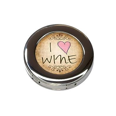 Amazon.com: I Heart Love vino clásico plegable bolso de mano ...