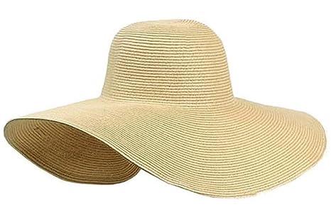 V-SOL Gorra De Sol/Sombrero De Paja/Playa Viaje Verano Para Mujer ...