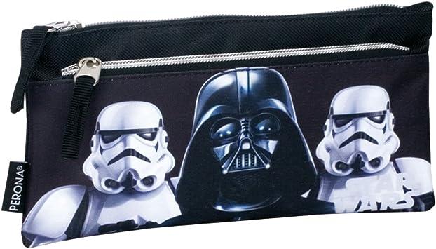 Star Wars - Estuche de Color Negro con la Imagen de Darth Vader y Dos Stormtroopers: Amazon.es: Juguetes y juegos