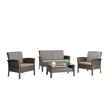 amazon com azure sky as57 br patio outdoor furniture brown rh amazon com patio outdoor furniture sale hull patio door furniture