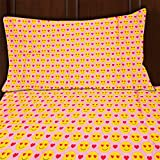 Emoji Bed Set Sutton Home Fashions (3 Piece) Emoji Bed Sheet Set Twin Size Microfiber Bedding Flat Fitted Pillowcase