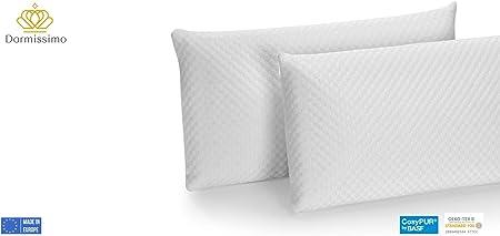 DORMISSIMO Pack 2 Almohadas 100% viscoelástica Perforada 70x35: Amazon.es: Hogar