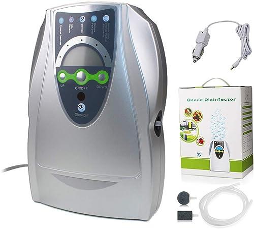 Oz3 Generador de ozono y purificador de Aire, ionizador de esterilizador de Agua para Kits de desodorizador de máquina de ozono de Vegetales y Frutas para Habitaciones, automóviles y Mascotas,Plata,B: Amazon.es: Hogar