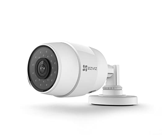 33 opinioni per Ezviz C3C Videocamera Bullet da Esterno Wi-Fi, Risoluzione Video HD720p da 1