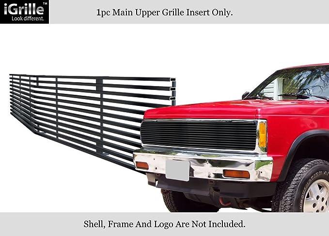 Fits 91-93 Chevy S10//91-94 Blazer Black Phantom Stainless Steel Billet Grille