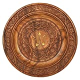 Product review for Wooden Beautiful Fine Wood Handmade Serving Round Plate, kitchen tray ,With Flower Design and Carved Brass Inlay MN-wooden_serving_plate_12inch_1