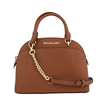 056730d6a021 Image Unavailable. Image not available for. Color: Michael Kors Emmy Ladies  Small Leather Dome ...
