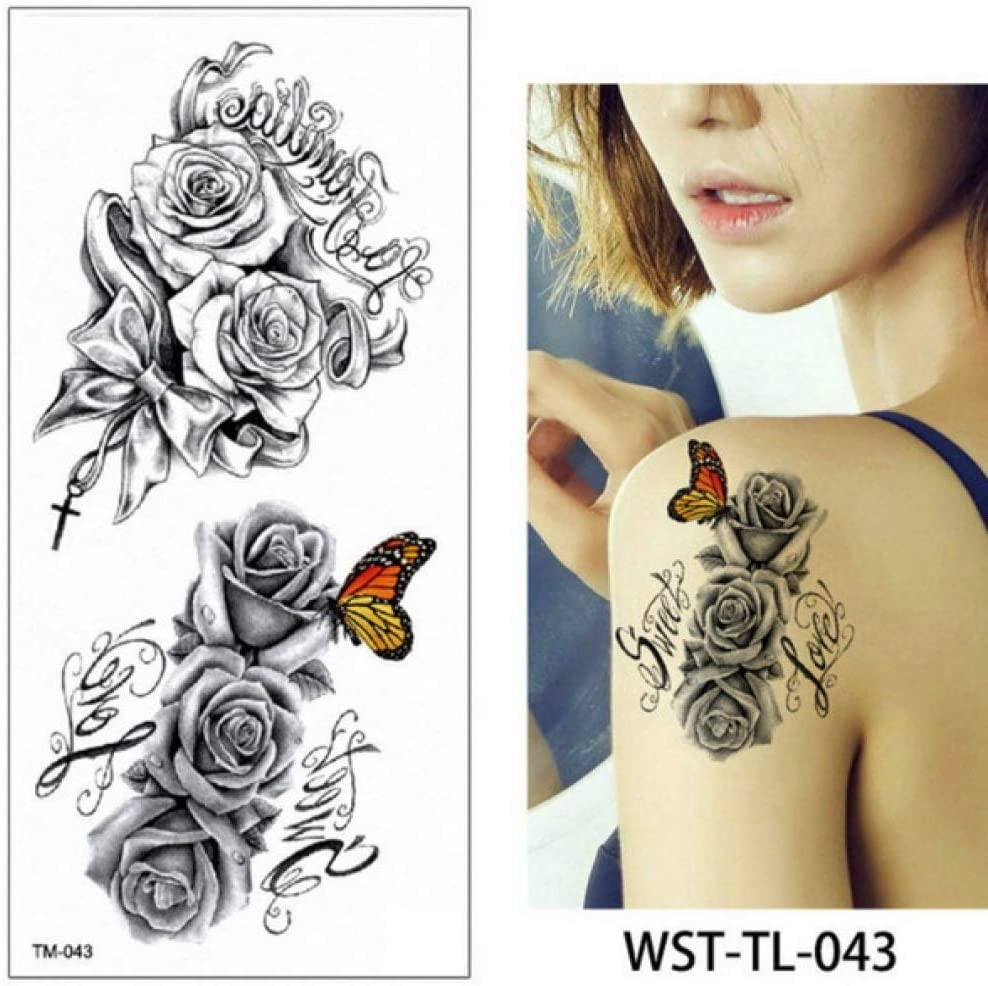 etiqueta engomada del tatuaje para mujeres tatuajes de larga ...