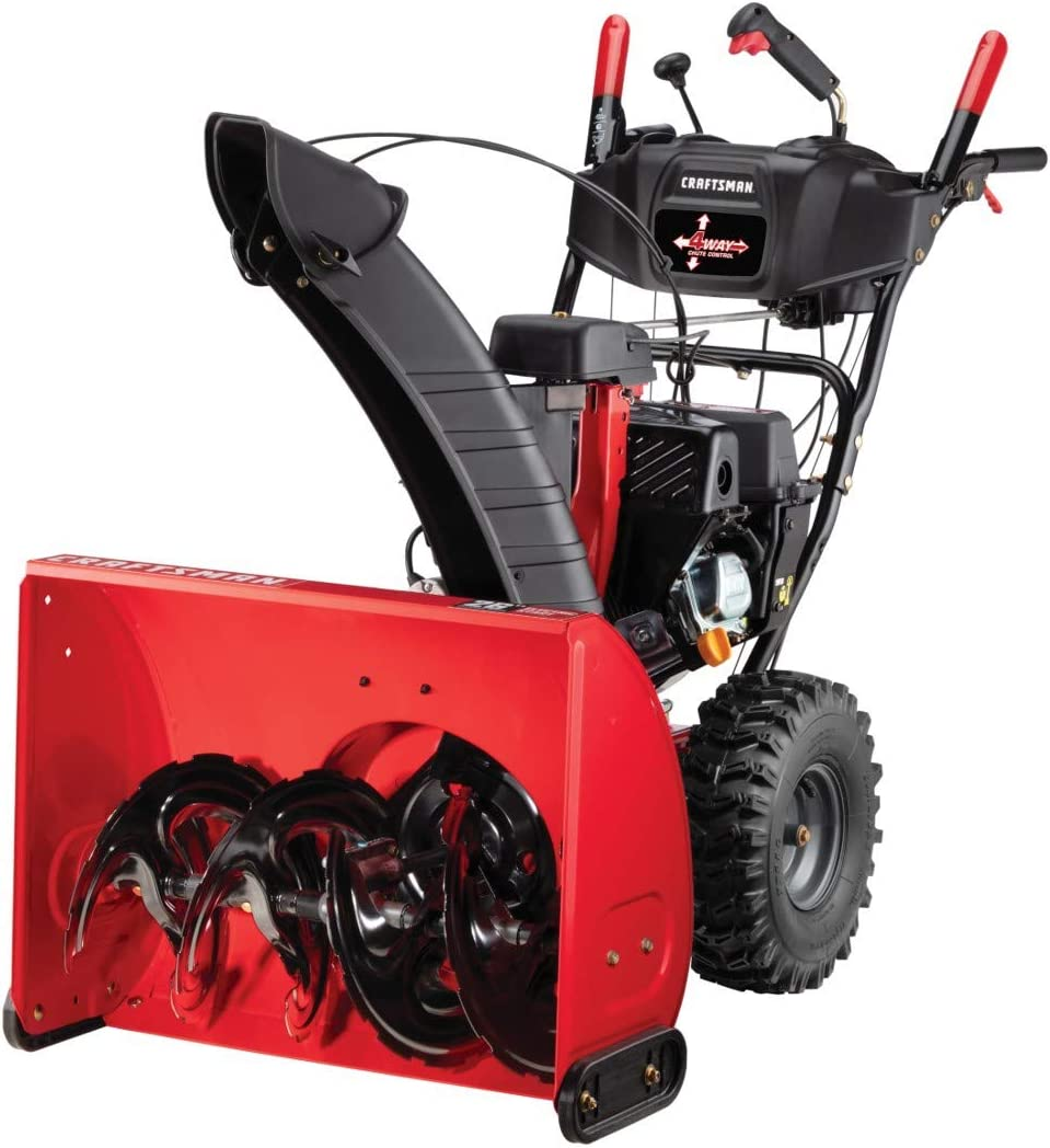 """Electric Start 26"""" Two Stage Gas Snow Blower"""