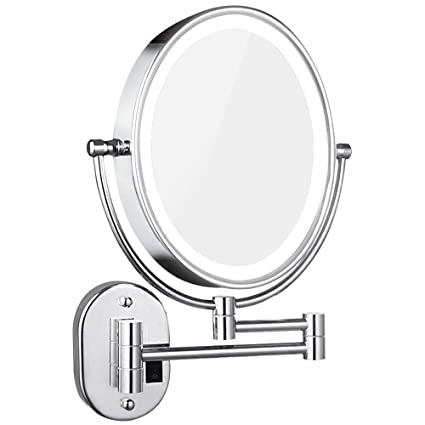 Amazoncom Dowry Lighted Magnifying Mirror Wall Mounted Ovaldouble