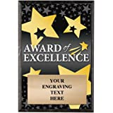 corporate plaques 5 x 7 award of excellence recognition trophy plaque award prime