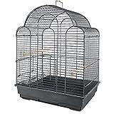You & Me Parakeet Scallop Top Cage, Grey