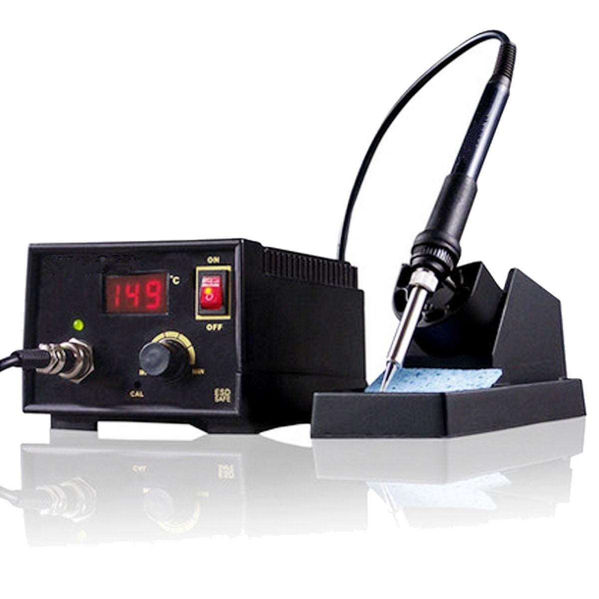 110V-220V 967 Electric Rework Soldering Station Iron LCD Display Desoldering SMD