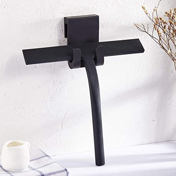 QIMMU Escobilla de Ducha de Silicona Negra con Gancho para Colgar para baño, Cocina, Espejo, Ventana, Limpieza de Cristales de Coche (Negro): Amazon.es: Hogar