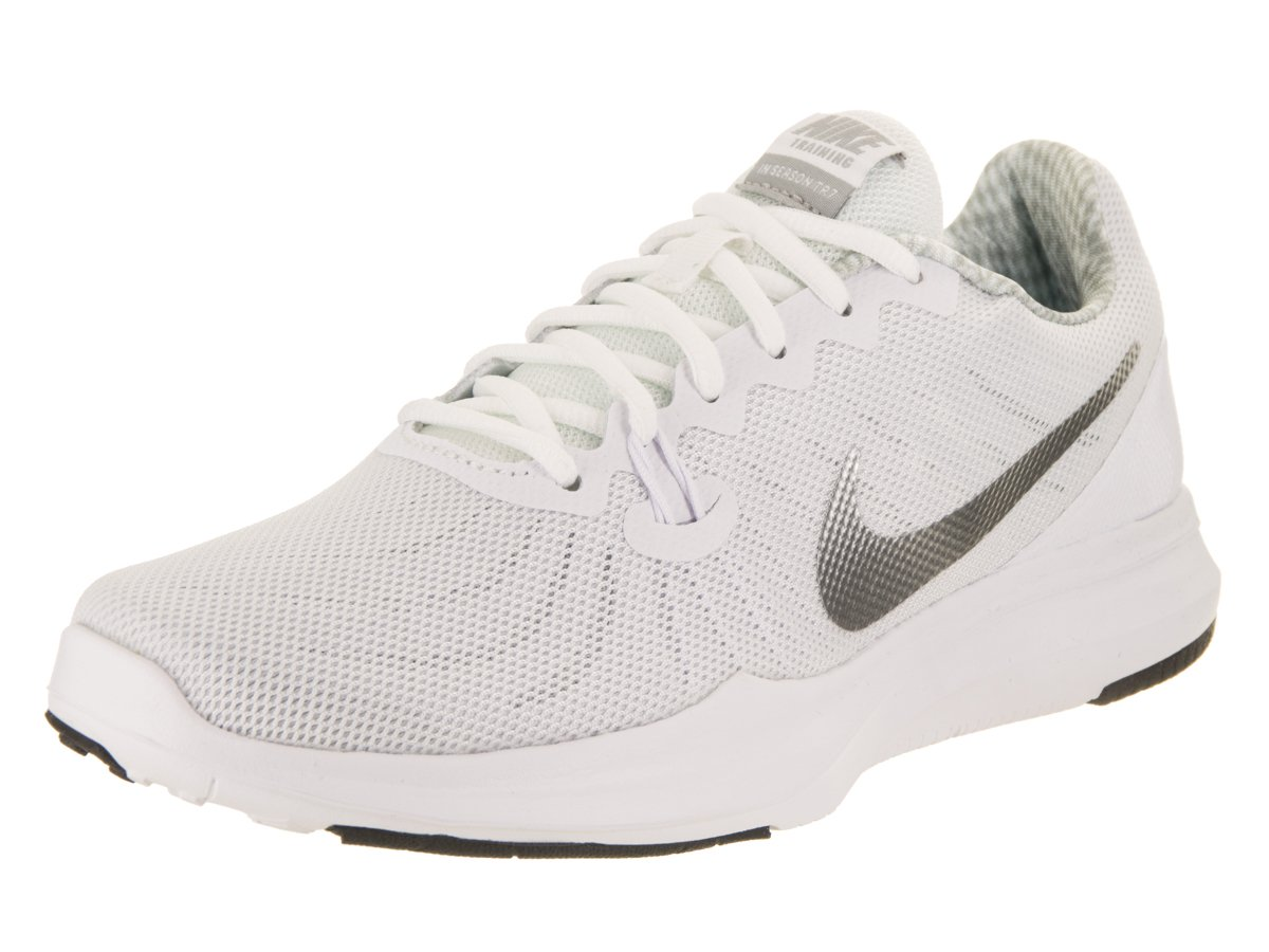 Nike Women's in-Season 7 Training Shoes (10, White/Silver-M)