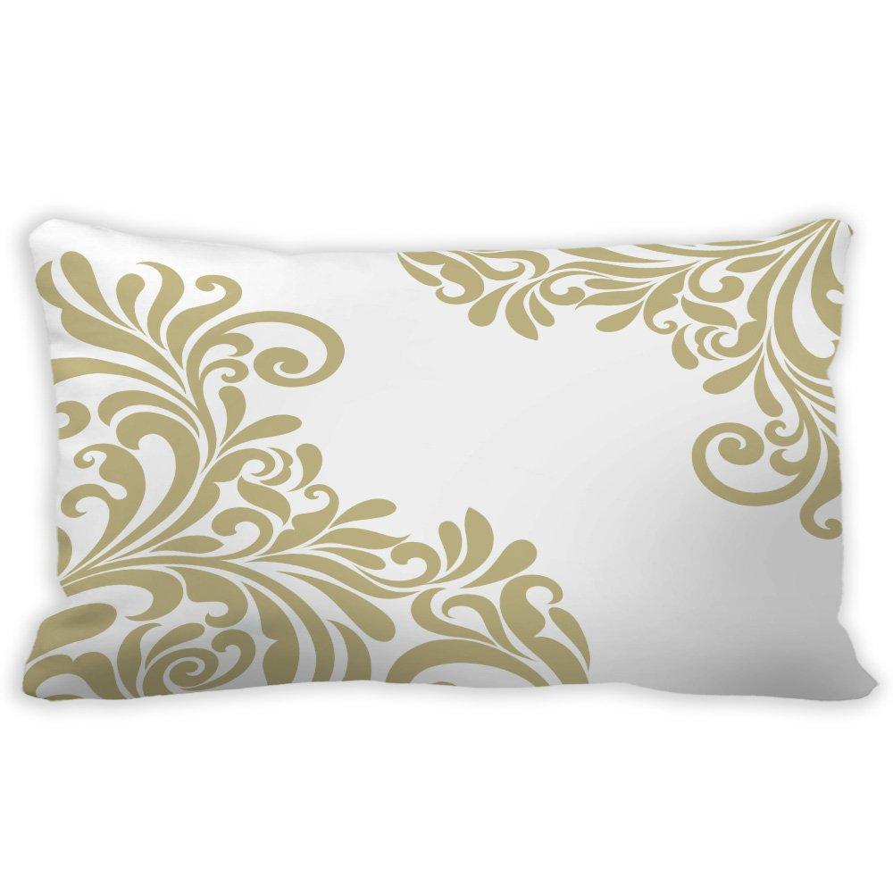 yilooomクリスマス枕カバーダマスクFroalランバーサポート枕カバーCases 12 x 18インチ 12x20 lumbar pillow covers#K-LWXBX-287-2 B076KNT46J マルチ 12x20