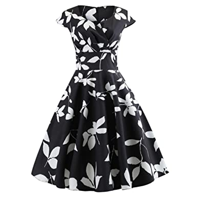 b59ea411ea Pingtr 1950s Vintage Rockabilly Dresses for Women