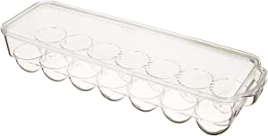 Acrylic Refrigerator Egg Holder with Lid - 14 Tray - Top Quality BPA Free- - Stackable - Durable - Keep Refrigerator Organized Clear Acrylic Dishwasher Safe (14 TRAY)
