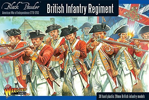 Black Powder Revolutionary British Infantry Regiment 1:56 Military Wargaming Plastic Model Kit from WarLord