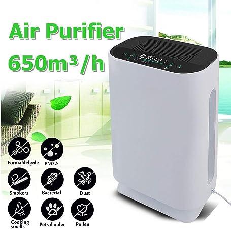 Purificador de Aire, Ultra-silencioso Modo de suspensión, Filtro de Carbón Activado HEPA,con Filtración de 3 Capas y 4 Temporizadores, para Personas Alérgicas y Fumadores, 350m³/h: Amazon.es: Hogar