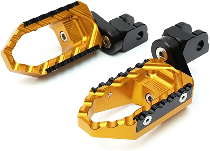 Gold CNC 40mm Adjustable Riser Front Touring Foot Pegs For Suzuki DL 1000 V-Strom 2002-2016