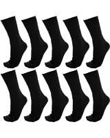 【Ashuneru】 メンズ ビジネス ソックス 靴下 10足セット 25cm~27cm 抗菌 防臭 リブ編みソックス XO-V009