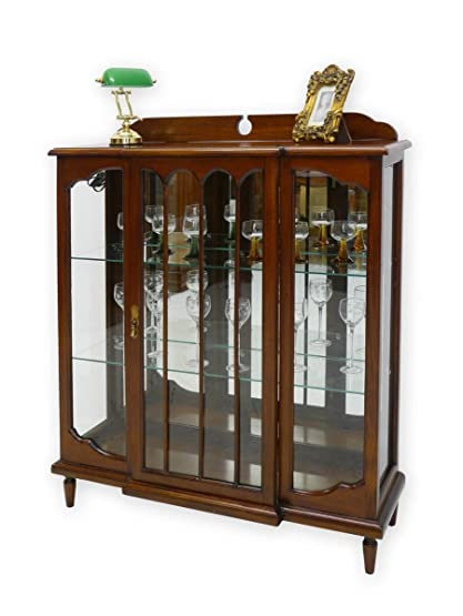 Vetrina in legno massiccio stile antico stile inglese: Amazon.it ...