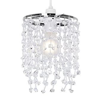 Modern clear acrylic crystal droplet ceiling pendant light shade modern clear acrylic crystal droplet ceiling pendant light shade amazon lighting mozeypictures Gallery
