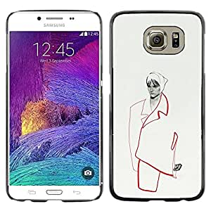 Caucho caso de Shell duro de la cubierta de accesorios de protección BY RAYDREAMMM - Samsung Galaxy S6 SM-G920 - Woman Couture