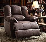Acme Furniture 59422 Oliver Recliner (Power Motion), Brown Polished