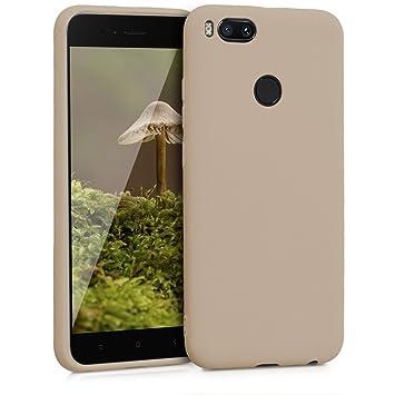 kwmobile Funda para Xiaomi Mi 5X / Mi A1 - Carcasa para móvil en [TPU Silicona] - Protector [Trasero] en [Beige Mate]