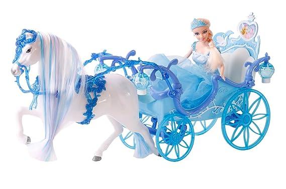 Kutsche blau mit Zauberpferd und Prinzessin: Amazon.de: Spielzeug