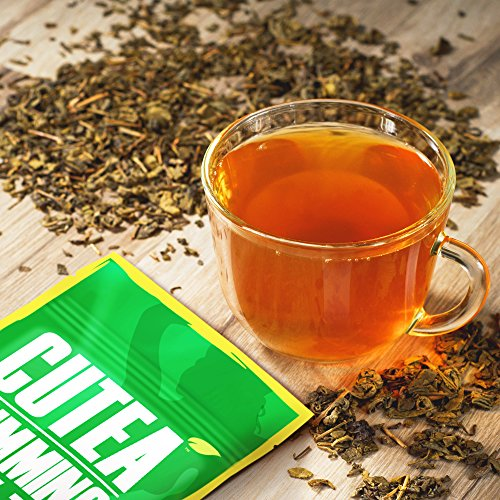 photo Wallpaper of Cutea-CUTEA Natural Weight Loss Detox Tea, 14 Tea Bags: Reduce Bloating, Promote-