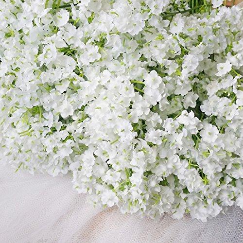 Bringsine Baby Breath/Gypsophila Wedding Decoration White Colour Silk Artificial Flowers 10 pieces/lot