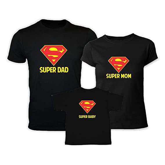 43fd4fd6 YaYa cafe Super Hero Family Tshirts Set Combo for Mom Dad and Kids ...