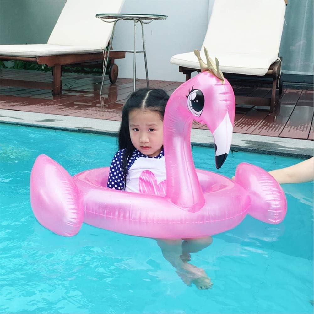 QHWJ Piscina Anillo niños, Flamenco Piscina de Verano Fiesta en la Piscina Inflable de Juguete Infantil de natación Anillo Camas de Aire 90 x 70 x 50cm