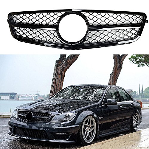 Amg C-class (MotorFansClub For Mercedes Benz W204 C-CLASS AMG Style Gloss Black grille Grill 2008-2014 by)