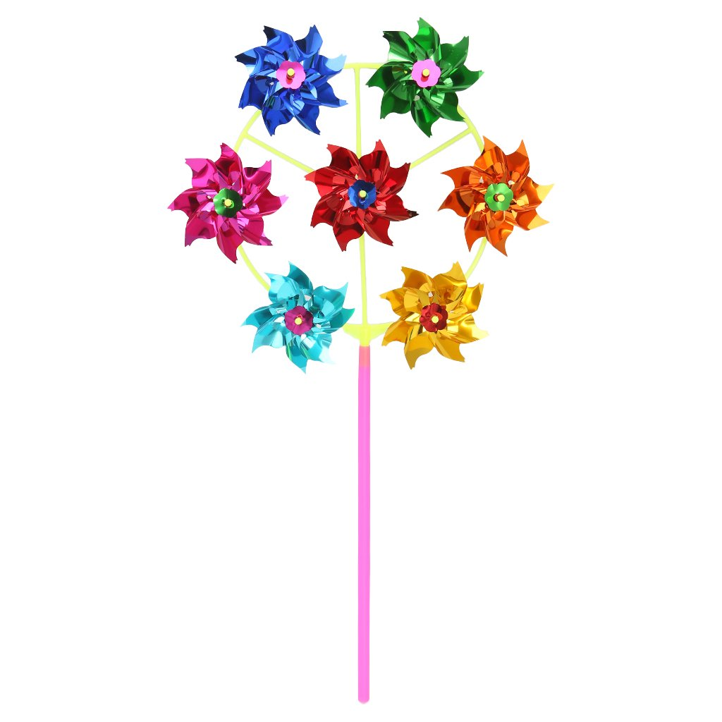 CUIGU Colorful DIY Sequins Windmill Wind Spinner Home Garden Yard Decoration Kids Toys