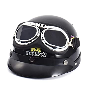 keng - Gafas de Motocicleta para Harley Davidson, Negro, Medium