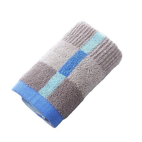 OUNONA Toallas de Algodón Lujo para Lavabo Cara Mano de Baño Hotel Cocina 35x75 (Azul