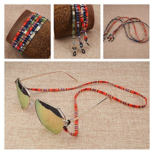 Kalevel 3pcs Eyeglass Chain Eyeglass Holders Eyeglass Strap for Kids Women Men