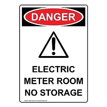 Amazon.com: ComplianceSigns - Medidor eléctrico vertical de ...